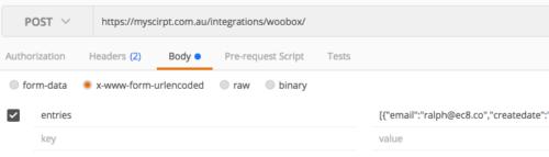 Custom Woobox Integration