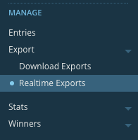 Woobox realtime exports