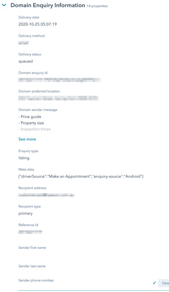 Domain HubSpot Integration